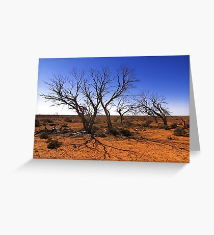 Dead in the outback Greeting Card