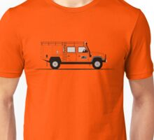 A Graphical Interpretation of the Defender 130 Double Cab High Capacity Pick Up G4 Challenge Unisex T-Shirt