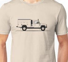 A Graphical Interpretation of the Defender 130 Single Cab Mobile Maintenance Vehicle Unisex T-Shirt