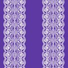 Violet with White Lacelook Pattern by Greenbaby