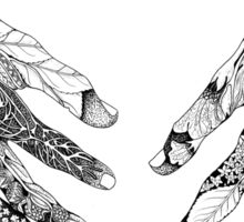 Flying Ointment Herb Hands With Border Sticker