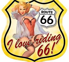 Glamour Girl - Route 66 Pin Up by violetraymedia