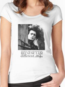 EDWARD SCISSORHANDS Women's Fitted Scoop T-Shirt