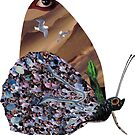 And The Moth Has A Thousand Eyes Sticker by StickerNuts