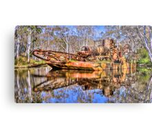 Rusting Metal Barge at Maldon Metal Print
