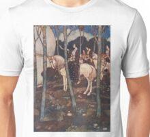 Maidens on white horses. Unisex T-Shirt