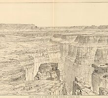 Vintage Pictorial Map of The Grand Canyon (1895)  by BravuraMedia
