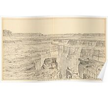Vintage Pictorial Map of The Grand Canyon (1895)  Poster