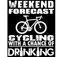 Weekend Forecast Cycling Photographic Print