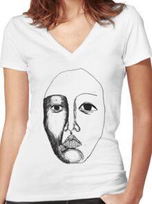 Portrait I Women's Fitted V-Neck T-Shirt