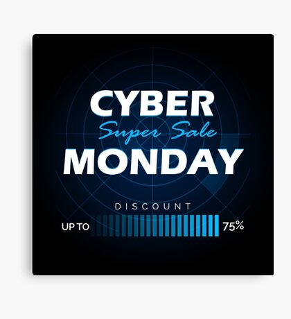 Cyber Monday sale design template Canvas Print