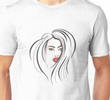 Beautiful Female Face Unisex T-Shirt