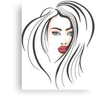Beautiful Female Face Canvas Print