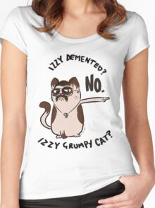 Izzy Demented Cat 2 Women's Fitted Scoop T-Shirt