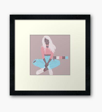 pastel blonde Framed Print