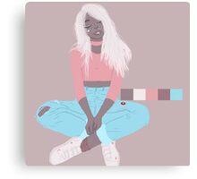 pastel blonde Canvas Print