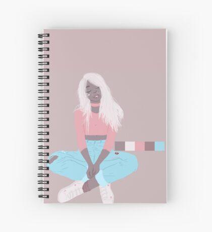 pastel blonde Spiral Notebook