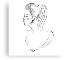 Young women portrait design Canvas Print