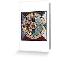 Mandala of the Seasons and Elements Greeting Card