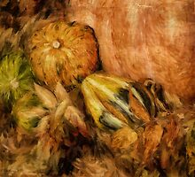 Gourds and Leaves Of Autumn by Lois  Bryan