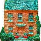 Two Story Cottage Sticker by StickerNuts