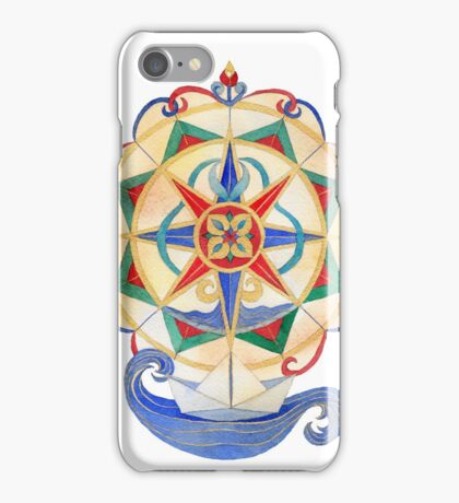 Compass Rose - Safe Travels iPhone Case/Skin