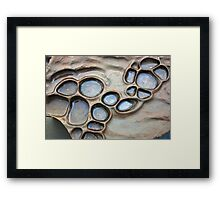 Rock pools Framed Print