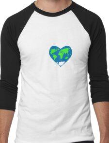 Heart the World Men's Baseball ¾ T-Shirt