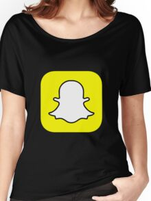 Snapchat Logo Women's Relaxed Fit T-Shirt