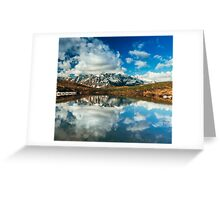 Snowy Mountain Photography Greeting Card
