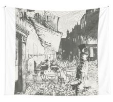 Café Terrace at Night Wall Tapestry
