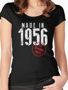 Made In 1956, All Original Parts Women's Fitted Scoop T-Shirt
