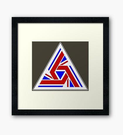 Alien UK Flag Patch Framed Print