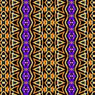 Aztec Halloween | Tribal pattern by webgrrl