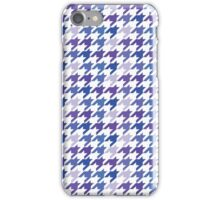 Blue Houndstooth Pattern iPhone Case/Skin