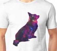 Sitting Corgi - Galaxy white Unisex T-Shirt
