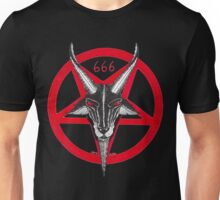 PENTAGRAM BAPHOMET RED Unisex T-Shirt