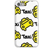 Seamless pattern yellow taxi iPhone Case/Skin