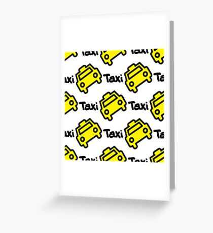 Seamless pattern yellow taxi Greeting Card