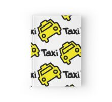 Seamless pattern yellow taxi Hardcover Journal