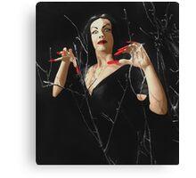 VAMPIRA RED LIP Canvas Print
