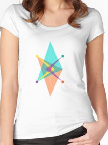 Double Arrow Square Women's Fitted Scoop T-Shirt