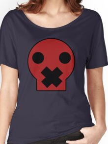 Taped Skull Cartoon Women's Relaxed Fit T-Shirt