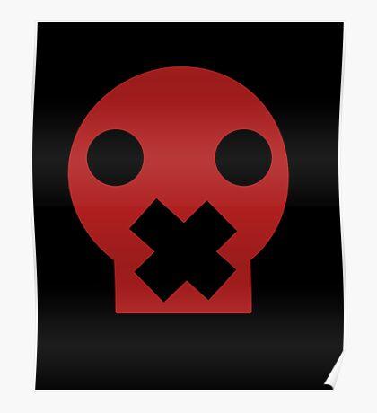 Taped Skull Cartoon Poster