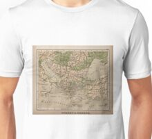 Vintage Physical Map of Greece (1880) Unisex T-Shirt