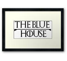 GOT BLUE HOUSE Framed Print
