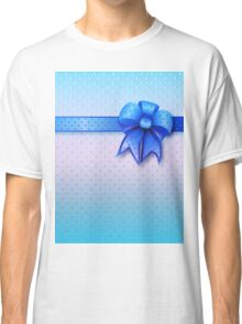 Blue Present Bow Classic T-Shirt