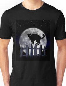 spooky black cat Unisex T-Shirt