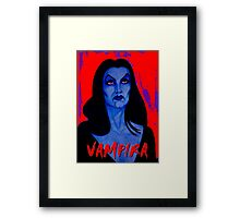VAMPIRA RED Framed Print