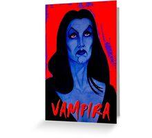 VAMPIRA RED Greeting Card